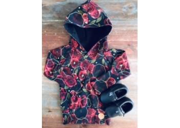 Hoodie roses rouges