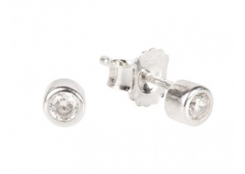 Boucles d'oreilles Girls only blanc