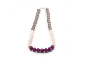 Collier Color bloc Aubergine