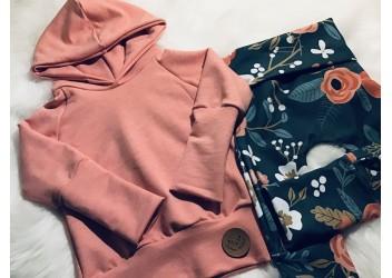 Ensemble fleurie hoodie corail 0-12 mois