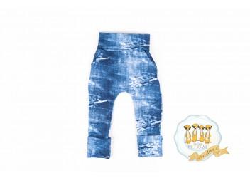 Faux jeans en french terry