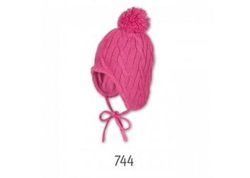 Bonnet tricot - pompon - cordons - Zatnick