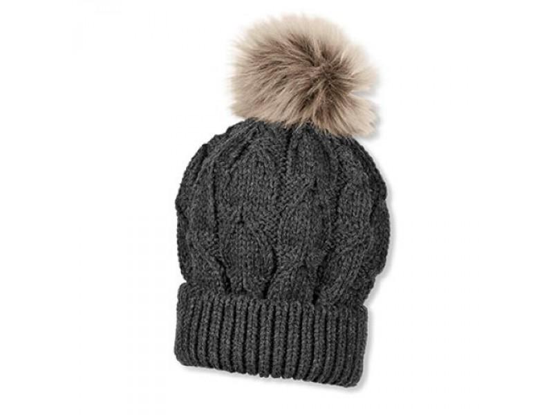nouveau style 5915c 4cc97 Tuque tricot - pompon fausse-fourrure - Zatnick